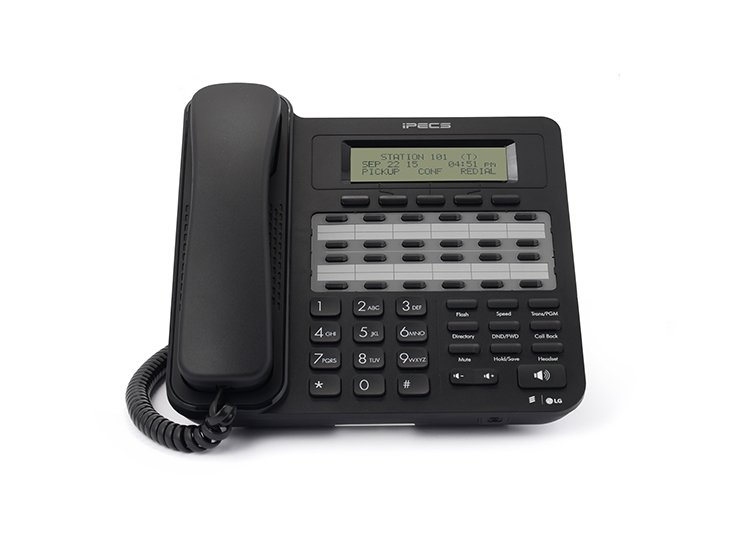 LDP-9224D 3-line, 24-character LCD (3×24 character) 24 programmable feature buttons with dual LED Half-duplex speakerphone Supports button kit (48 dss) Supports EHSA